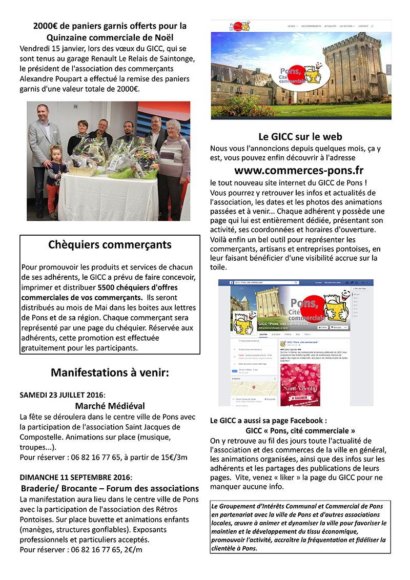 GICC Pons - Lettre d'Info (Hiver 2016) - Page 2