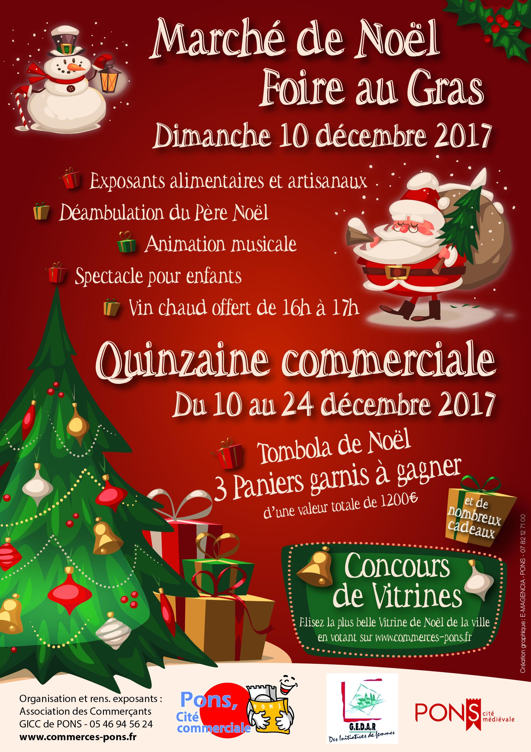 Marché de Noël 2017 - GICC Pons cité commerciale