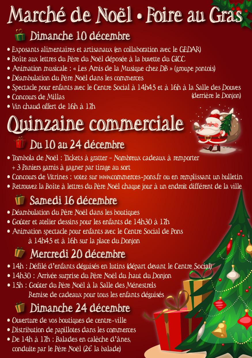 Marché de Noël et Quinzaine commerciale 2017 - GICC Pons cité commerciale