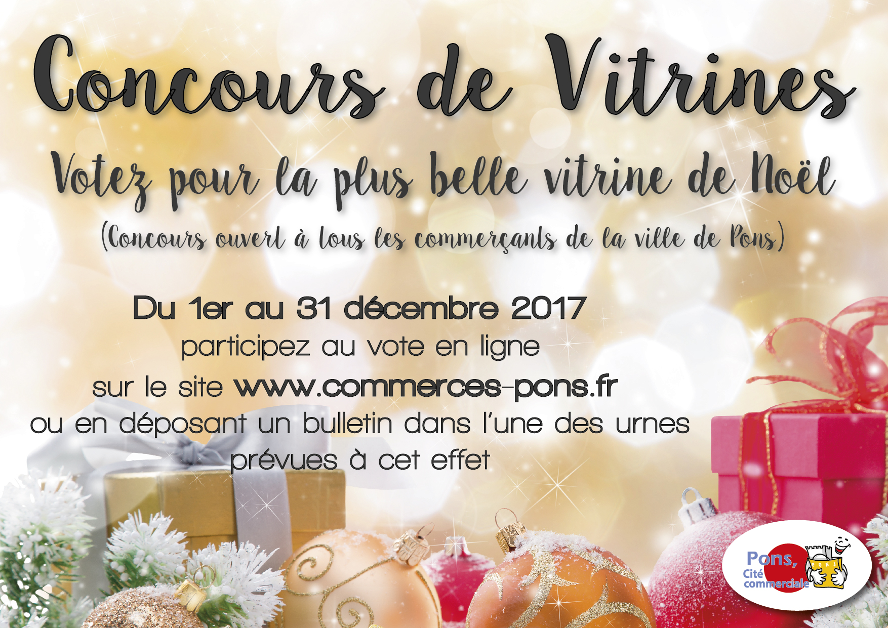 GICC de Pons - Concours de vitrines de Noël 2017