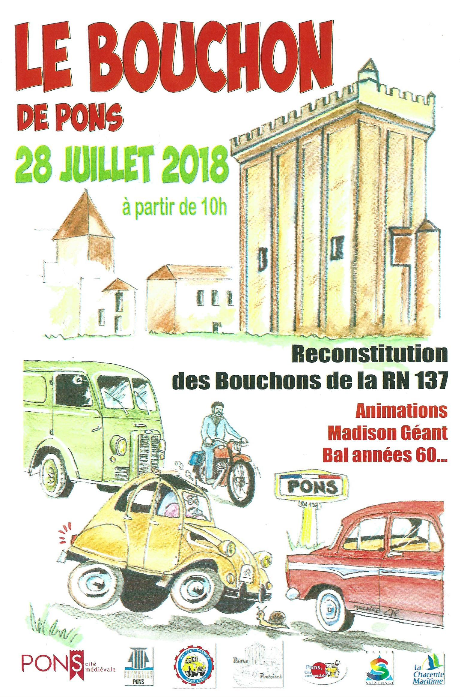 Le Bouchon de Pons - Juillet 2018 - affiche