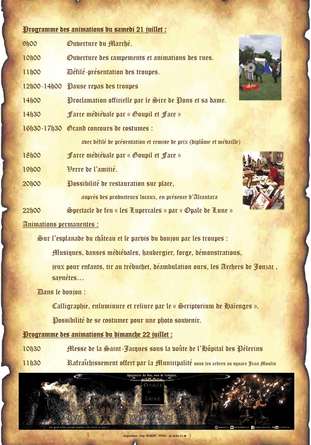 Fête Médiévale de la Saint Jacques 2018 - Pons