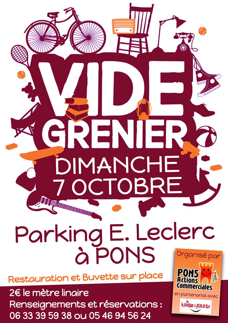 Brocante Vide Grenier commerçants Pons - Octobre 2018 - Pons Actions commerciales