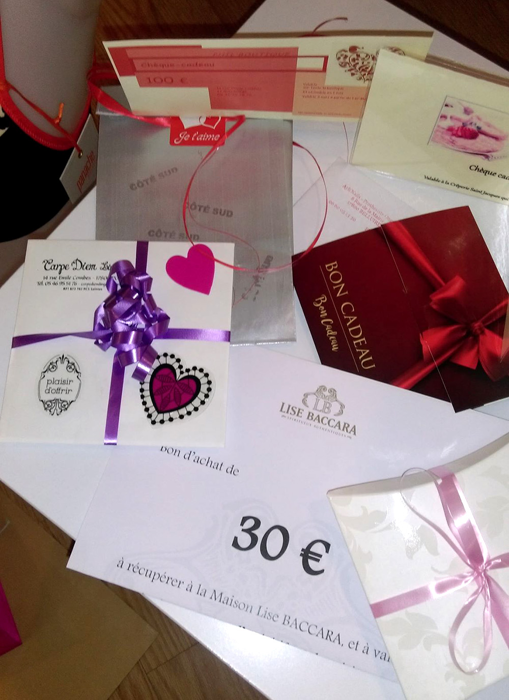 Pons Actions Commerciales -Saint Valentin 2019-Gagnants