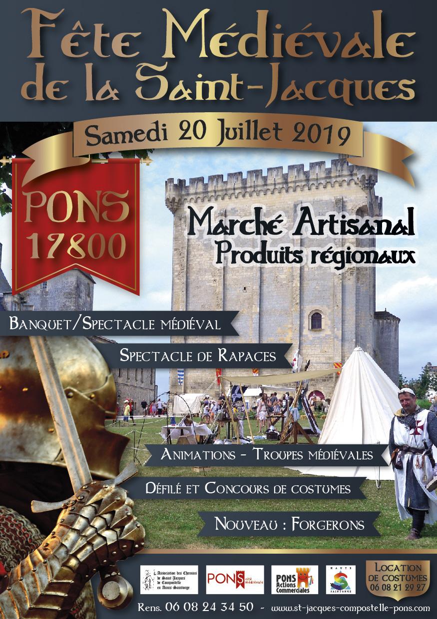Fête Médiévale de la Saint Jacques à Pons - 20 Juillet 2019