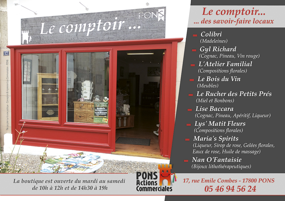 Pons Actions Commerciales - Local Le Comptoir rue Emile Combes