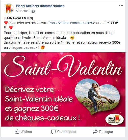 Pons Actions commerciales - Concours Saint Valentin 2019