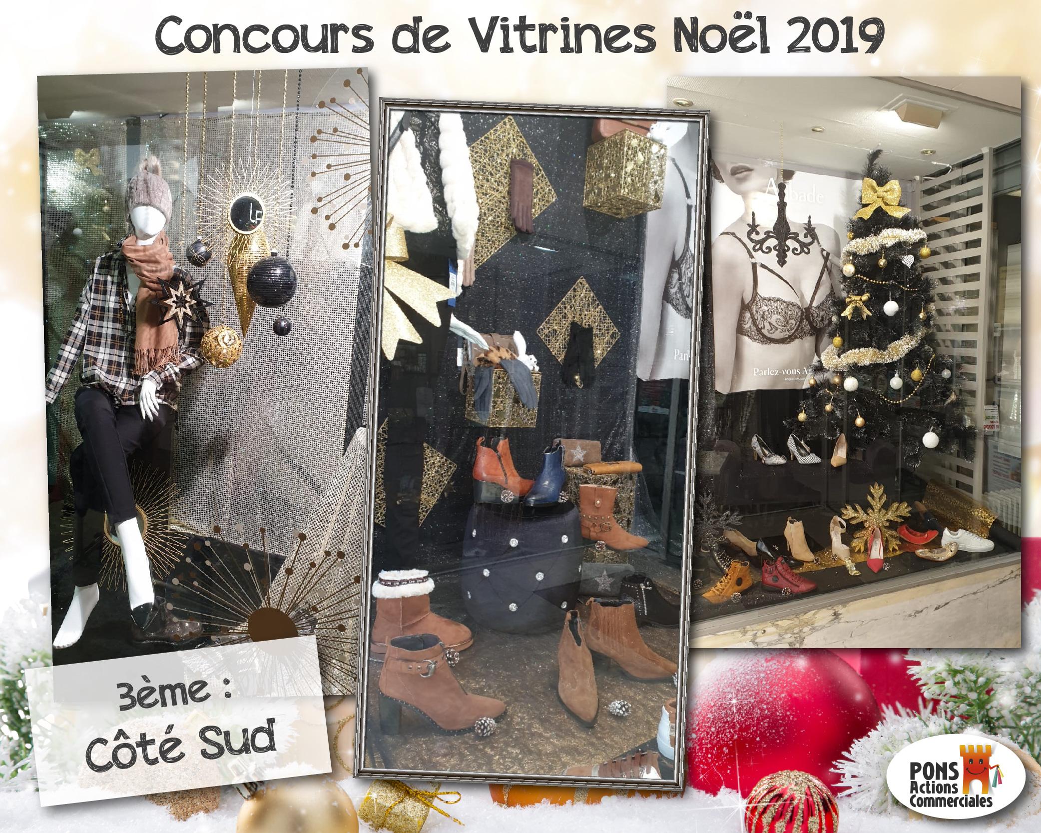 Pons Actions Commerciales - Vitrines2019-Gagnants - Coté Sud