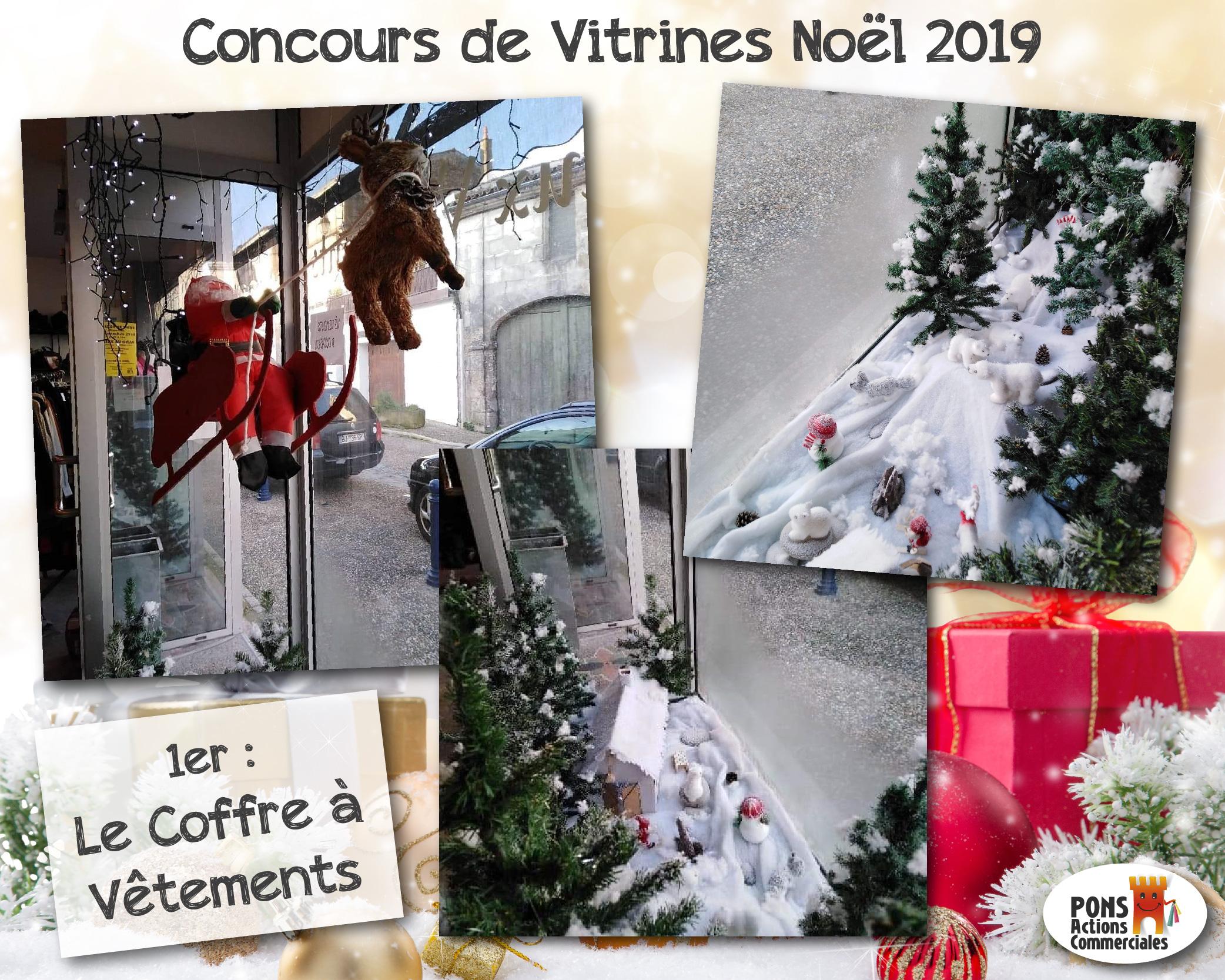 Pons Actions Commerciales - Vitrines2019-Gagnants - Le Coffre à Vêtements