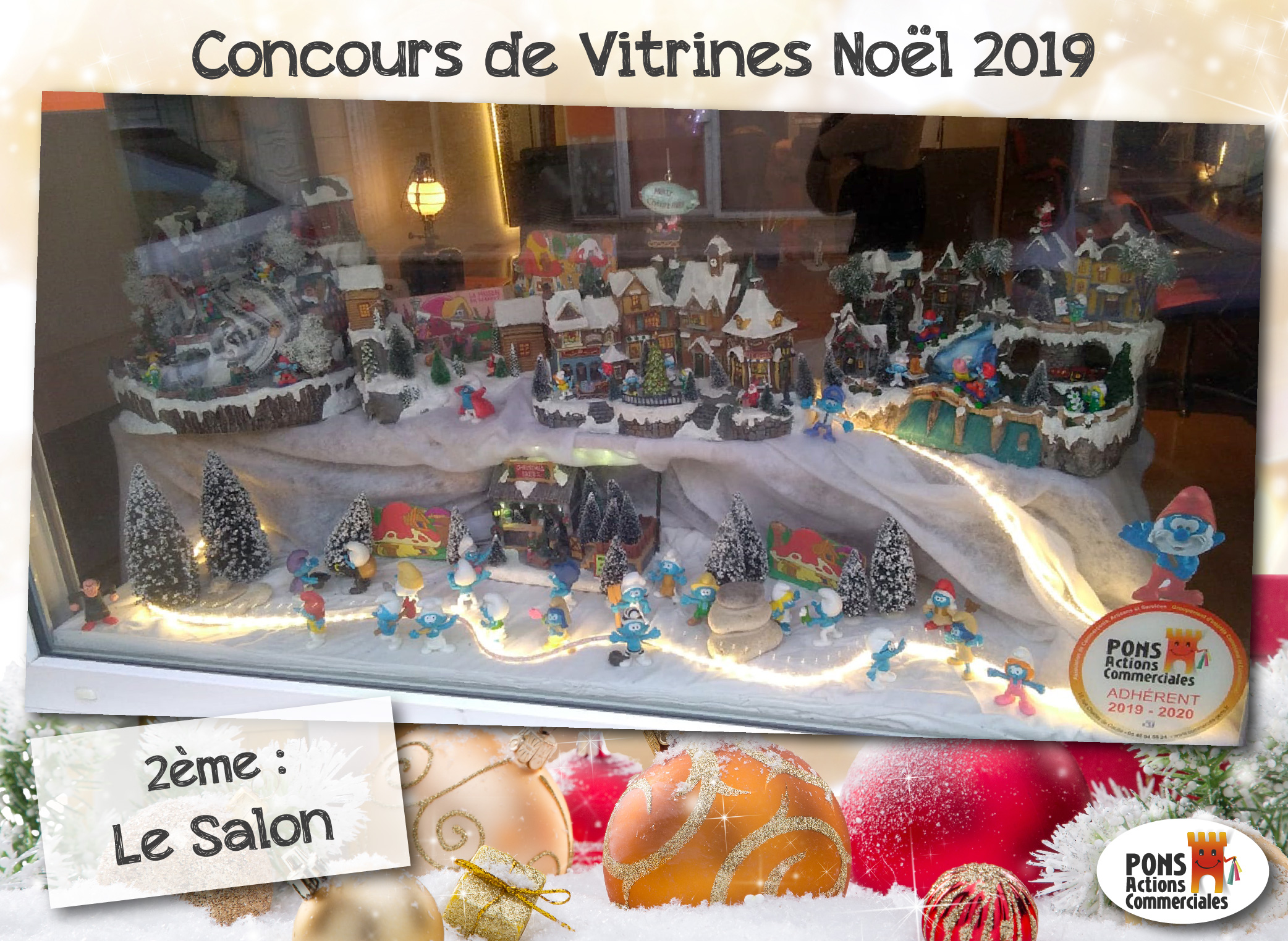 Pons Actions Commerciales - Vitrines2019-Gagnants - Le Salon