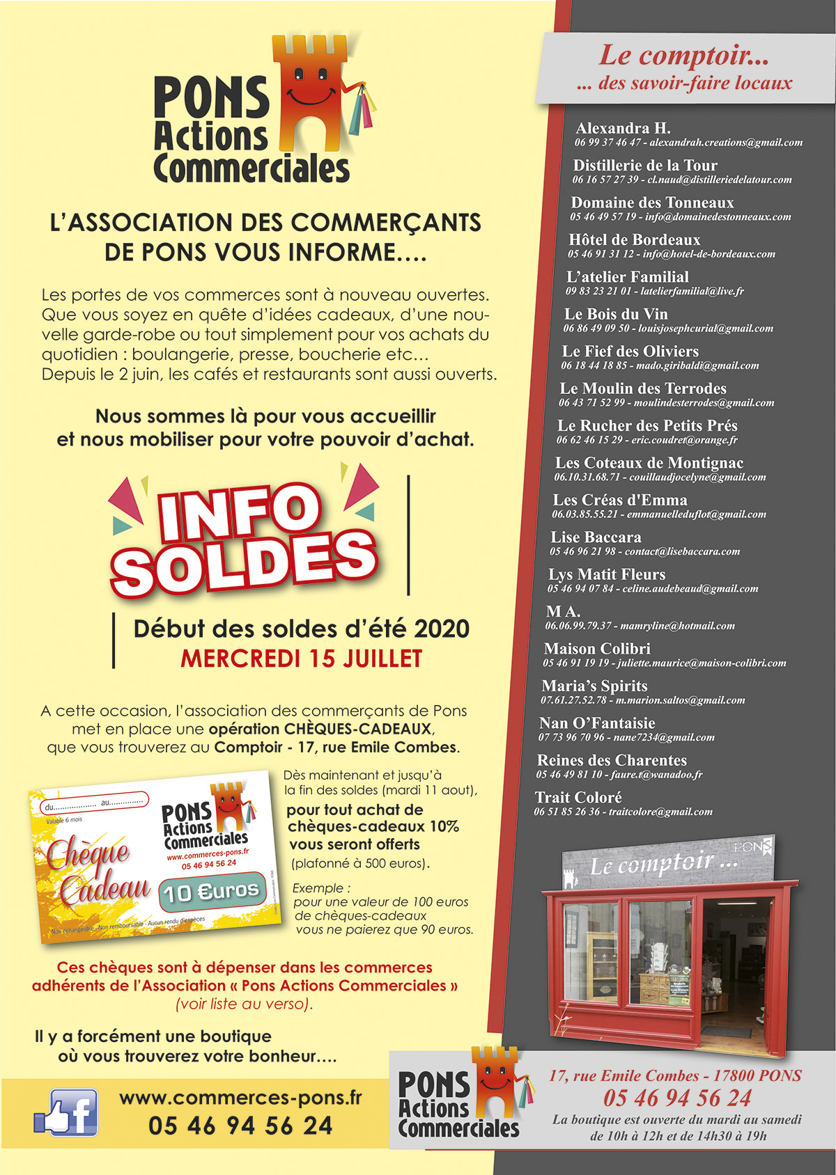 Pons Actions Commerciales - Flyer Juillet 2020 Soldes