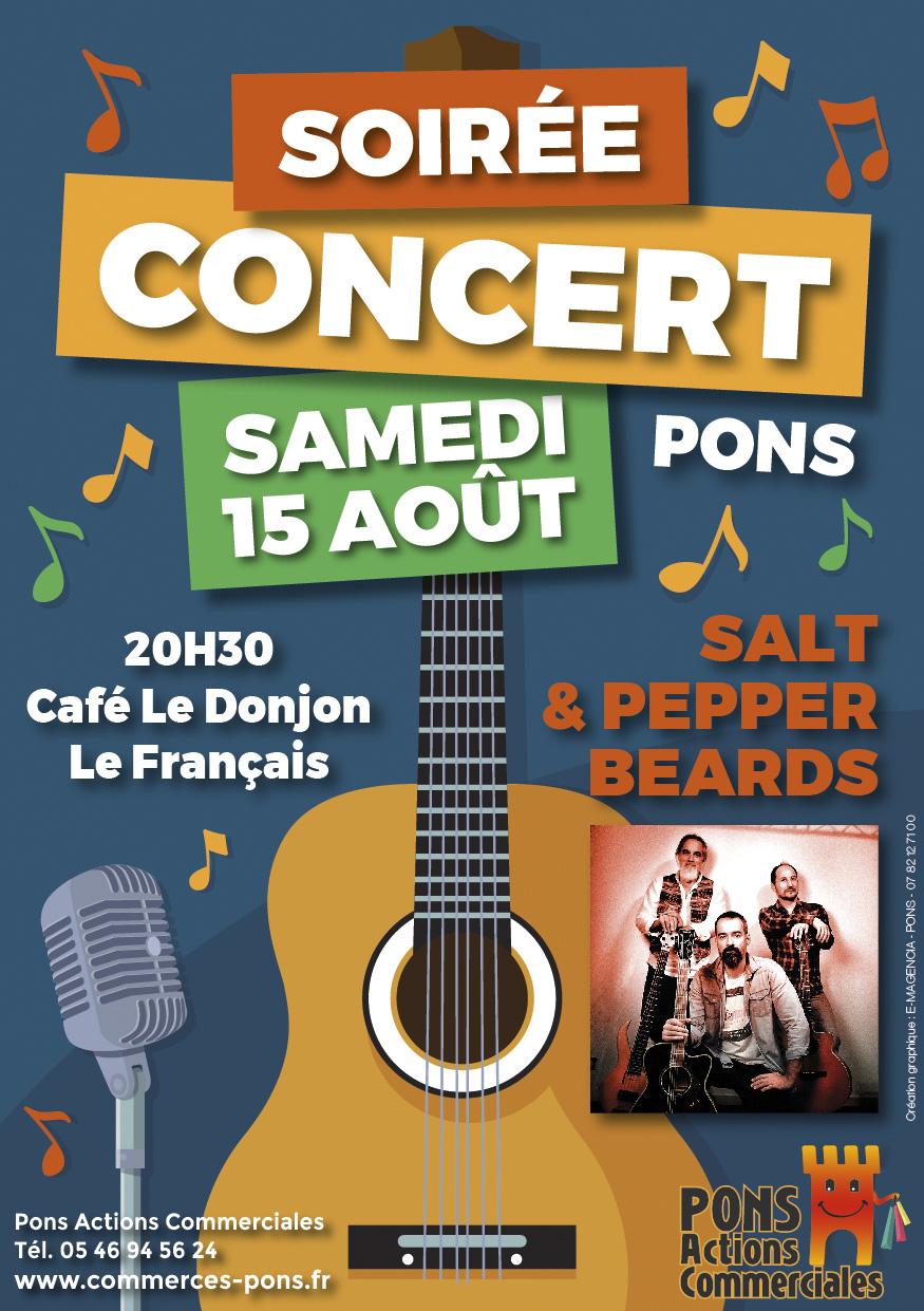 Pons Actions Commerciales - Concert 15 aout