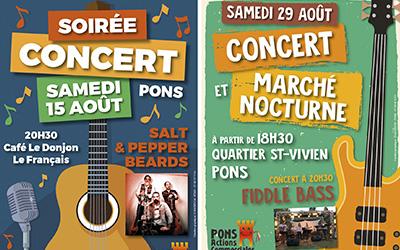 Soirées-Concerts en Août