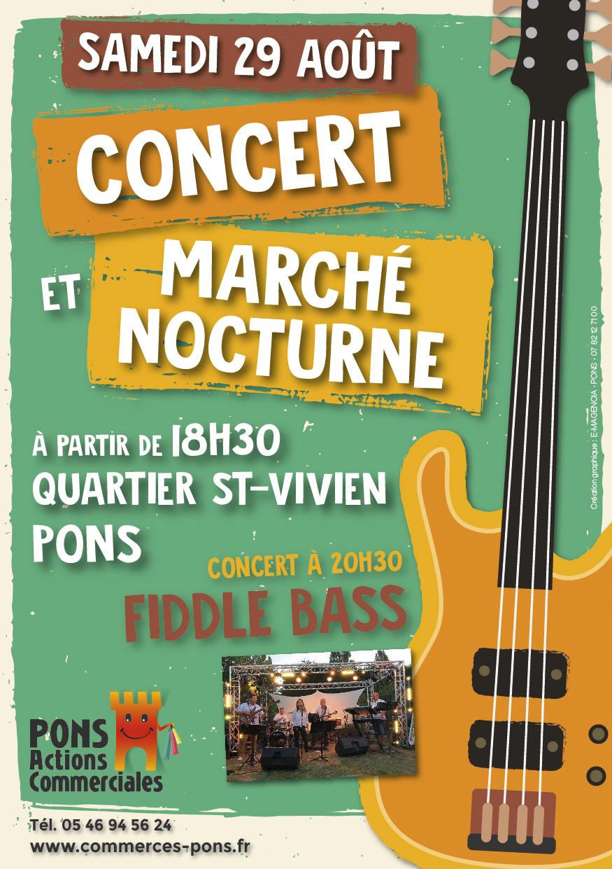 Pons Actions Commerciales - Concert 29 aout 2020