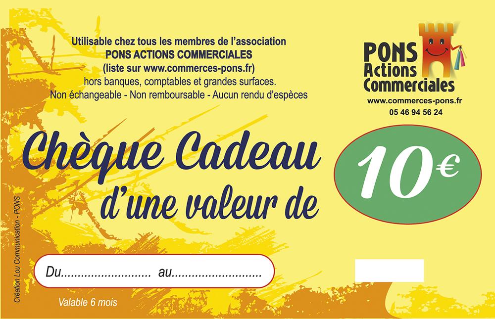 Pons Actions Commerciales-cheque cadeau